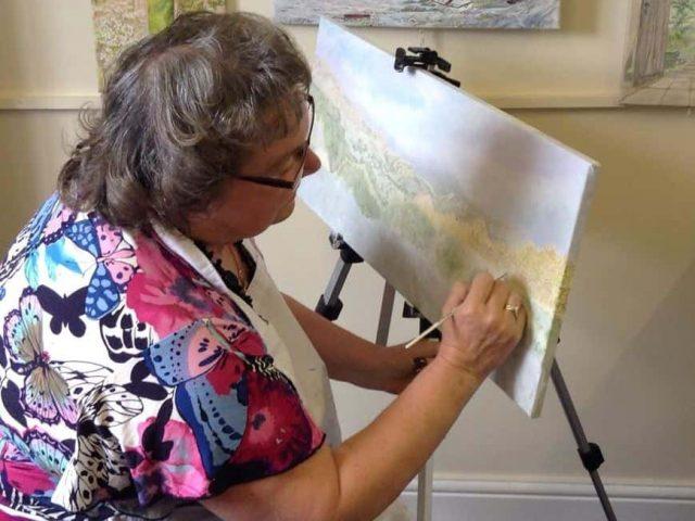 Afonwen Craft & Antique Centre - Thelma Evans Painting _1